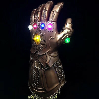 US!  Figure & LED Light Thanos Infinity Gauntlet Marvel Legends Gloves Avengers