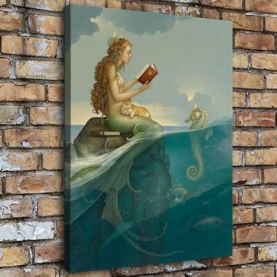 """12""""x16""""Mermaid Series HD Canvas Print Painting Home Decor room Wall Art Pictures"""