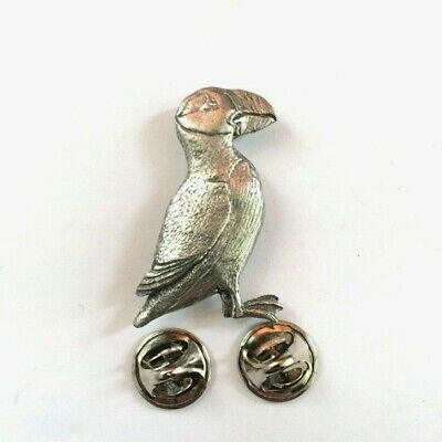 Puffin Brooch Pin Badge in Copyrighted Antiqued Pewter with Gift Box Option