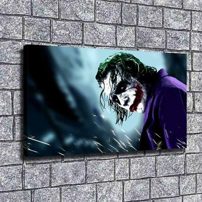 "12""x22""DC Batman Joker HD Canvas Prints Painting Home Decor Wall Art Pictures"