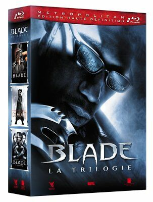 Coffret blu-ray trilogie Blade (Westley Snipes) neuf, sous blister