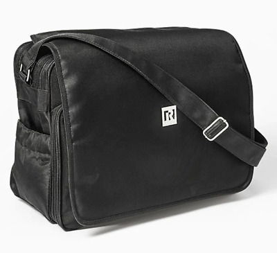 NEW Ryco Black Deluxe Everyday Messenger Nappy Bag Shoulder Strap Baby Care
