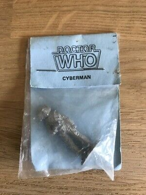 Cyberman Dr Who - 5cm Metal/Pewter Figure - Fine Art Castings Hampshire UK RARE