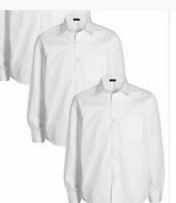 NEW Boy School Formal Long Sleeve Shirt White Sizes 6,7,8