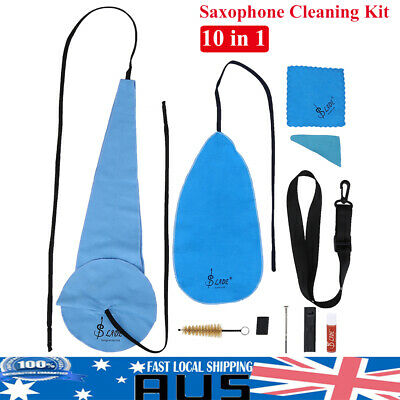 LADE Saxophone Cleaning Care Kit Set 10-in-1 Alto Sax Maintenance Cleaning Cloth