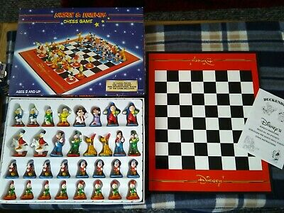MICKEY & AND Friends Chess Game - Disney Mickey Mouse Chess Set - Complete