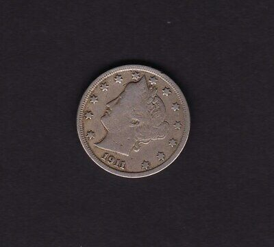 United States 5 Cent Coin 1911