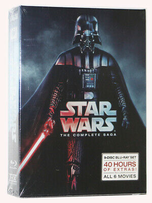 BRAND NEW Star Wars: Complete Saga episodes 1-6 Movie Box Set 9-Disc Blu-Ray USA
