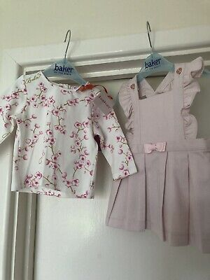 TED BAKER BABY GIRL 0-3 MONTHS Dress Top  OUTFIT BNWT