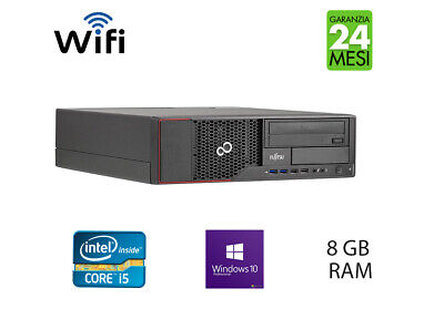 PC COMPUTER DESKTOP FISSO FUJITSU INTEL QUAD CORE i5  RAM 12GB HDD500  WIN10 PRO