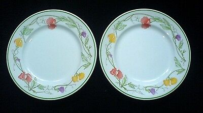 JOHNSON BROTHERS SUMMER DELIGHT Sweet Pea 7 inch Plates x 2 c1980