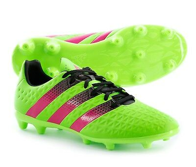 74f335e819a Adidas Ace 16.3 FG AG Jr Kids Youth Soccer Cleats Green Pink Black Size 2.5