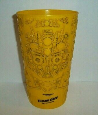 Transformers Bumblebee Cup Cinemark Movie Theater Promo Yellow 3D Tumbler 32 oz