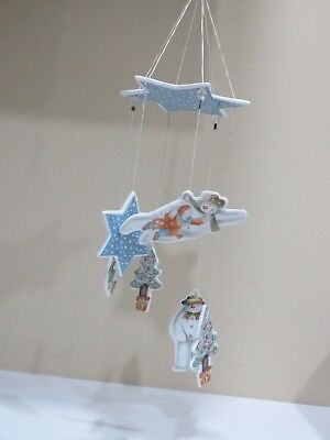 Vintage 1985 Royal Doulton The Flying Snowman Christmas Mobile or Wind chime
