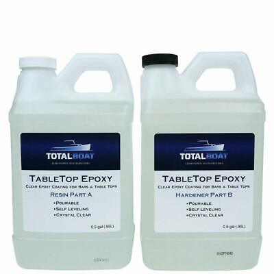 Table Top Epoxy Resin Gallon Kit Crystal Clear Coating Bars, Countertops, Tables