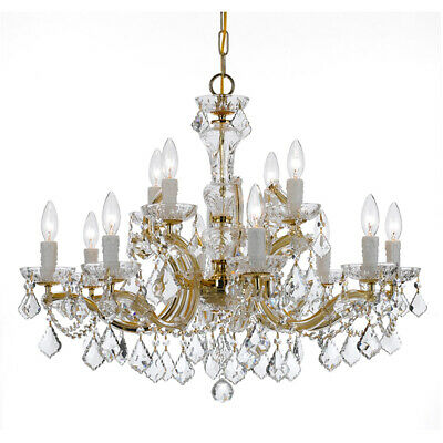 Crystorama 4479-GD-CL-MWP Maria Theresa Chandelier Gold