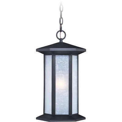 Vaxcel T0223 Halsted 1 Light 10 inch Textured Black Outdoor Pendant