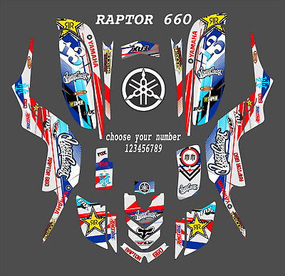 RAPTOR 660 GRAPHICS Yamaha 660R ATV custom sticker kit #2500