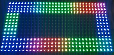 LED FULL COLOUR RGB 32x16 pixels matrix module P8 SMD 1/4 Scan Use with Arduino