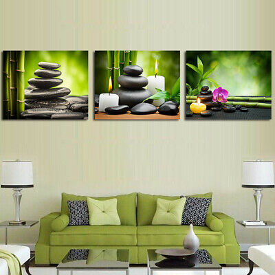 Green Nature Bamboo Canvas Modern Wall Art Oil Painting Picture Print Home Decor
