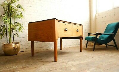 Vintage Mid Century Industrial Drawers Haberdashery Tailors Table Workbench Desk