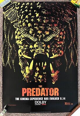 """Dolby Cinema The Predator One Sheet Movie Poster 27""""x40"""" Double Sided"""
