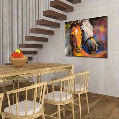 Abstract Horses Canvas Modern Wall Art Oil Painting Picture Print Home Decor