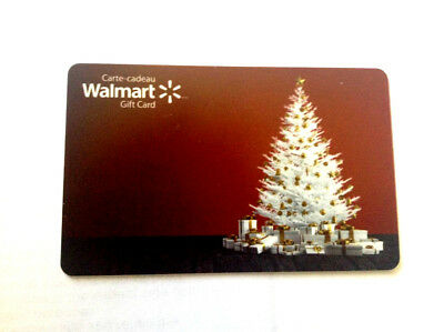 WALMART CHRISTMAS White tree COLLECTIBLE GIFT CARD FD-58801