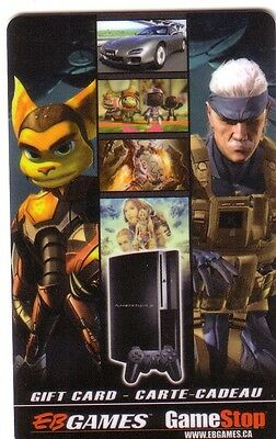 CLANK & RATCHET EB GAMES COLLECTIBLE Gift Card New No Value BILINGUAL*