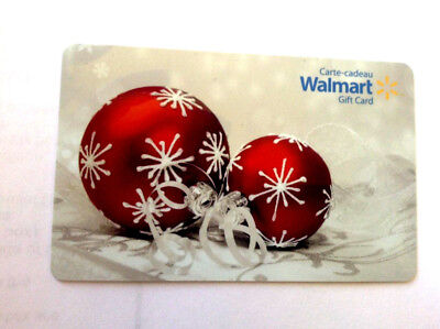 Walmart Christmas Ornament Red Collectible Gift Card Fd-49028