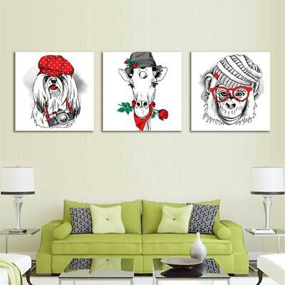 Cute Animal Dog Monkey Horse Canvas Modern Wall Art Painting Prints Home Decor
