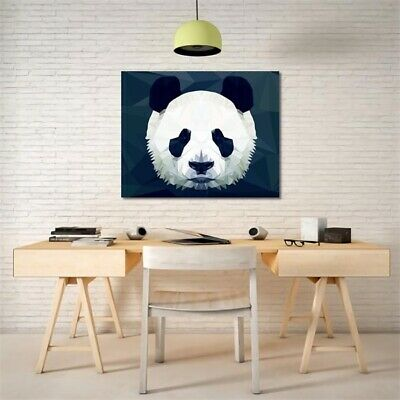 Abstract Panda Canvas Modern Wall Oil Painting Picture Print Unframed Home Decor