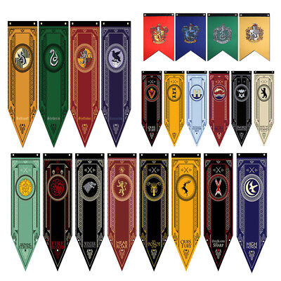 Game of Thrones/Harry Potter House Banner Flag Wall Hanging Stark Poster Sign US