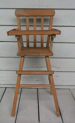 Antique Wood Child's High Chair