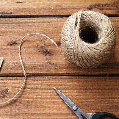 1Rol 6M(2mm) Jute String Hemp Rope Brown For Jewelry DIY Making Hang Tag Label