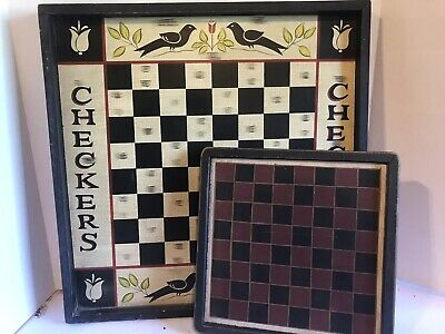 Primitive Checkerboards Can Wall Hang Heavy Signs