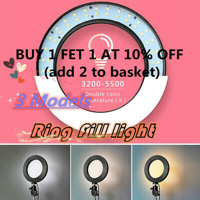 "16"" LED Ring Light Studio Dimmable Lamp Tripod Stand Selfie Photo Phone Video UK"