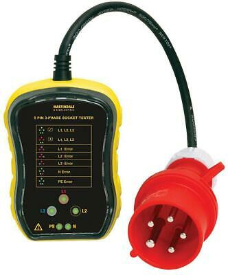 3-Phase Industrial Socket Tester, 16A - MARTINDALE ELECTRIC