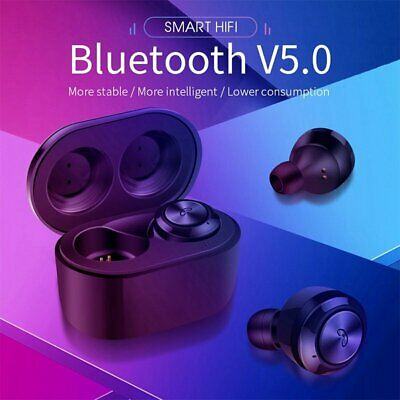 Wireless TWS Mini True Bluetooth 5.0 Twins HIFI Stereo Earphone Headset Earbuds