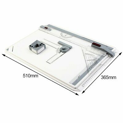 A3 Drawing Board Table with Parallel Motion Adjustable Angle Drawing Tools LN