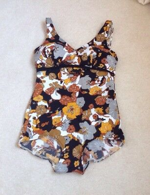 Vintage Swimsuit, 60's / 70's, Burlei Of Regent Street,  BUST 38C, FLOWER POWER