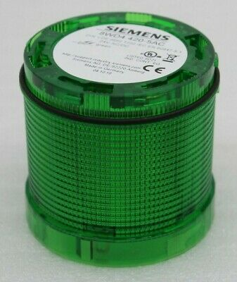 Siemens 8wd4 420-5ac Continuous Lighting LED Signal Column Green 24v AC Dc New