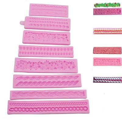 Sugar Silicone Fondant Craft Pearl String Paste Bead Clay Mould Form Tools XS