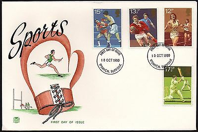 Fdc - Gb - 1980 Sports - First Day Cover