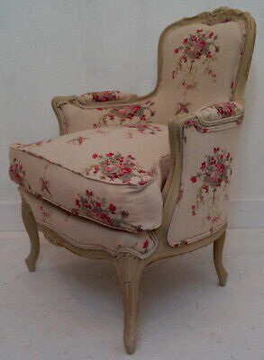Vintage French Louis XV Bergere Armchair in KATE FORMAN 'Isobella'