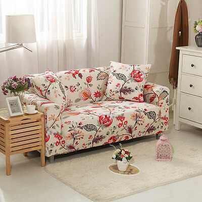 Stretch Flower Sofa Couch Covers Lounge Recliner Slipcover 1/2/3/4 Seater Decora