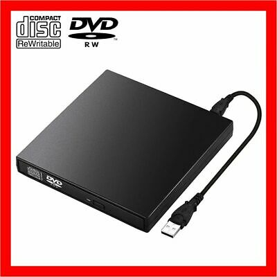 USB External CD RW DVD ROM Writer Burner Player Drive PC Laptop Mac Win7/8/10