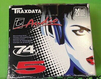 Box Of Five Blank Traxdata Mini Discs BNIB