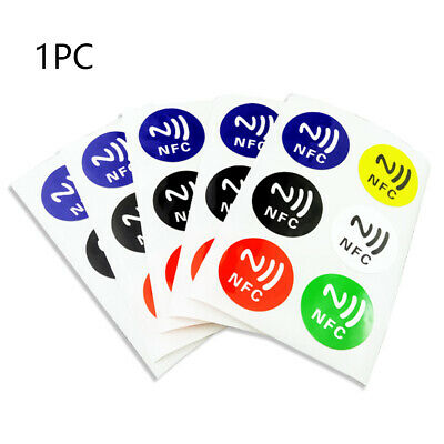 6pcs Round Smart Tag For NFC Phone NFC Stickers Waterproof 144Byte Ntag 213 Chip