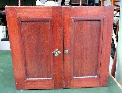 Victorian antique solid mahogany military campaign style table filing cabinet